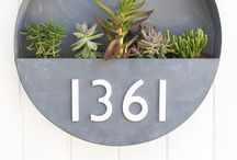 House Number and letter box Inspo