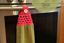 Crochet dish &a bath cloths and pot holders / by Stacy Hensley