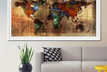 Extra Large World Map / Watercolor, Home Decor, Art Poster, Wall Art,  Push Pin Travel World Map, Push Pin Travel Map, Watercolor World Map Print, Push pin world map, pushpin map, Wall Art, world map poster