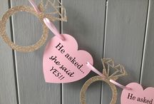 Engagement Party Decorations / Engagement party decorations. Personalised banners, bunting, cake toppers, balloons & gifts.