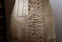 Vintage fan-laced girdles