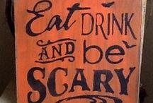 Halloween sign ideas  / by Billie WinterKelly