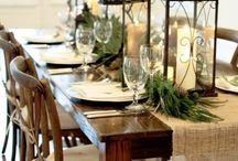 Dining Table Styling Ideas / Styling and decorating ideas and inspiration for a dining table