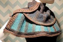 Knitting /Crochet  - Wraps, Poncho, Scarfs