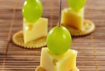 Petisco saudável de uvas bolacha d queijo