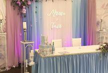 свадьба в розово-голубом