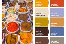 COLOUR / Colour schemes inspiration for my living room and bedroom