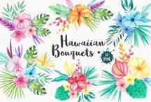 Watercolor clipart designs