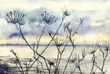 Watercolor / river