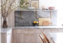 GRANITE / Natural stone material for countertops, walls, showers, and fireplaces.