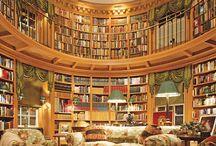 Biblioteki, księgarnie, półki, książki...