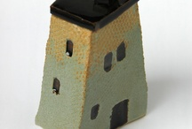 ceramic house boxes
