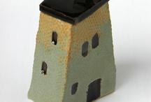 ceramic house boxes
