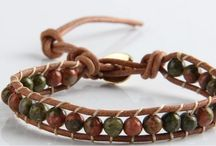 ARM006 / Handmade Leather Wrap Bracelet looks