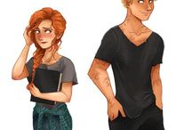 clary and jace fan art