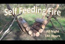 Self feeding fire