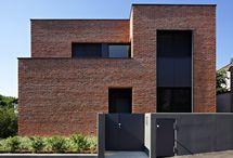 Brick facade house