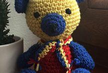 For fans / Háčkované hračky, crochet toy, pro fotbalové a hokejové fanoušky