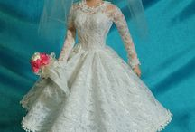 """Wedding and Quinceañera Dress Barbies / Visit ChellyWood.com for my free, printable """"Barbie Wedding and  Quinceañera Dress"""" pattern and matching video tutorial."""