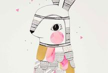 Bunnies / Here's all inspiring things for Hihka-style. Bunnies in fashion, illustration, design, funny pics etc. http://www.hihka.com