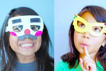 Eye Make / interesting crafts for kids that relate to eyes/vision