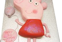 Peppa Pig Cakes for Childrens Birthdays / Theme tune stuck in your head like a broken record? Do you find yourself snorting out loud in public or inappropriately jumping up and down in muddy puddles? If so here's some Peppa Pig Cakes and ideas for their upcoming birthday...