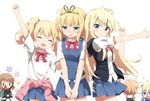 Kin-iro Mosaic 金色モザイク / An anime about two girls. One is from England and the other is from Japan. :)