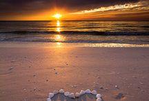 sfeer fotos zee met hart
