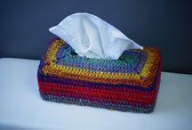 Crochet tissue boxes