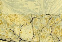 marbling & paste paper π / see also bookbinding, paper finishes / by Pii Topio