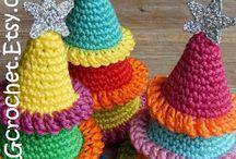 クリスマス オーナメント 編み物