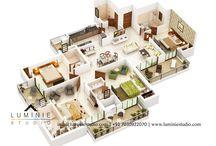 3D Floor Plans / Cutsections