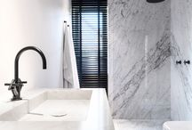 Bathroom / Modern bathrooms. Marble, tiles and industrial vibes...