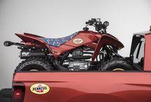 Custom 2017 Honda TRX250X Sport / Race ATV & RidgeLine Truck | SEMA 2016