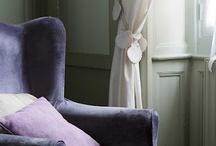 violet lavender & green