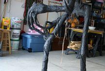 Decorações de dia das bruxas artesanais