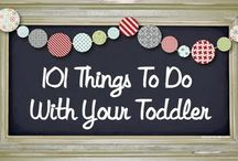 Toddler and Preschool Activities