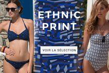 ETHNIC PRINT / Les imprimés Livia sont des imprimés exclusifs créés par les graphistes Livia Monte Carlo.  Adoptez la tendance ethnique chic avec ces imprimés graphiques.