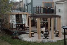 Patio / Spiral stairs