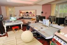 Peter's Studio / Peter's home music studio / by Jess