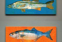 Произведения искусства с рыбами