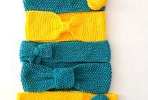 Na Cabeça / Acessórios em tricô feito à mão para a cabeça