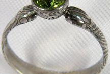 damasteel jewellery / ručně kované šperky z damascénské oceli