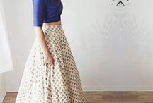 Brocade Skirt and crop top