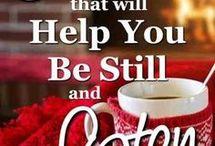 5 Prayers & verses how to be still & listen