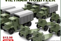 Wood toys - military