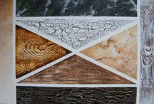 hout en marmer imitatie