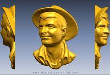 Retrato en miniatura / Digitalización 3d de un retrato en miniatura a partir de una escayola.