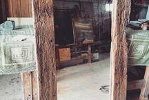 legno naturale specchio