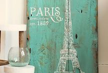 Paris Living Room / Brown, teal and purple Peacock and Paris themed living room!   / by Cinnamon Swires